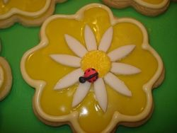 ladybug and daisy cookie