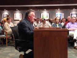 Farmer Rob Long testifies against mulch industry moving to farm