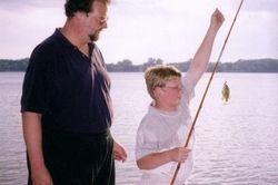 Dad, Jake, fish