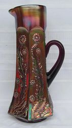 Paneled Dandelion water pitcher, amethyst