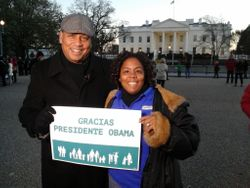At the White House in Washington DC with the News Reporter
