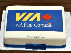 VIA Rail Canada Cake