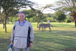 Zebra on Golf Course, Rift Valley Lodge