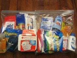 Individual hygiene bags.