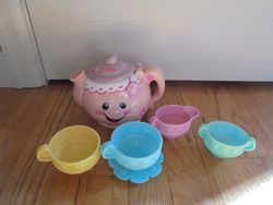 Fisher Price Laugh & Learn Say Please Tea Set - $10
