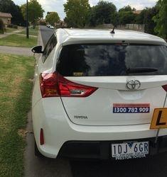 Driving School Eltham - Toyota Corolla Hatch 2015 - Automatic