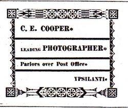 C. E. Cooper, photographer, Ypsilanti, MI