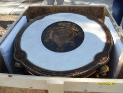 Antique table for feature on The Nate Berkus Show