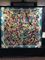 """Crystal Rousseau """"President's Quilt"""" (Pieced by Alicia Veil and SPQG members and Quilted by Joyce Torrance)"""