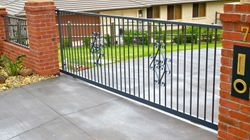 Scrolled with Vertical Bar Sliding Gate