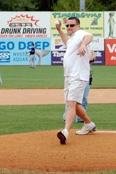 Throwing out the First Pitch!