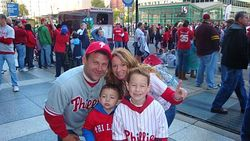 The Hildebrand's at the Phillies Parade