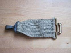 Navy gas mask bag belt section