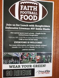 Riders luncheon poster