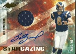 Sam Bradford 2010 Absolute Memorabilia Panini Stargazing  Auto Patch Rookie Card #8/25