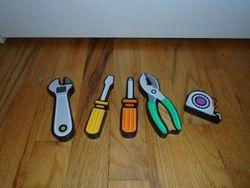 Melissa & Doug Tools Chunky Puzzle Pieces (no puzzle) - $3