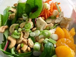 Asian Chicken Salad with Cashews & Mandarin Oranges