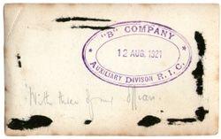 """B"" Company Station Stamp"
