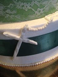 Baptism Cake Cross made from Fondant