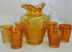 Orange Tree Orchard water set, marigold