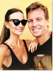 Ester and Tomas Berdych in Italy
