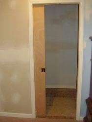 Pocket door closet