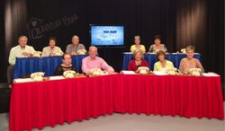 Helping at the Holiday Telethon for Quantum House