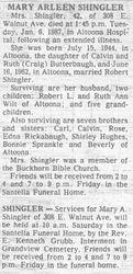 Shingler, Mary Butterbaugh 1987