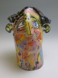 Mary Jones Ceramics. That smile. SOLD
