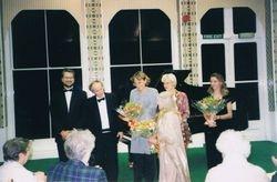 With Yalta Menuhin at Orwell Park School, Suffolk, UK, 1998