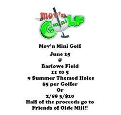 We had mini golf!