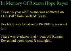 Roxann Hope Reyes-Texas 1987