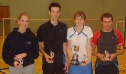 Handicap Tournament Mixed Doubles Winners & Runners Up
