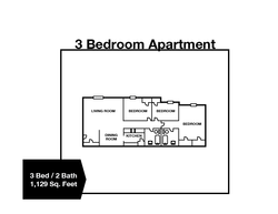 3 Bedroom / 2 Bath Apartment