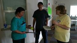 Darrell teaching newbie's Fran and Kim