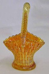 Big Basketweave miniature basket in marigold