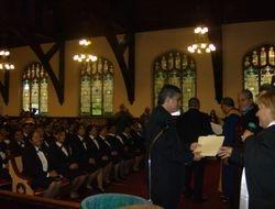 Chaplains Receiving Certificates & Awards