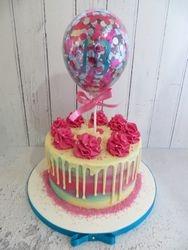 13th Birthday Balloon Drip Cake