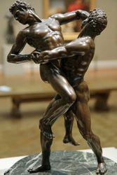 Italian, Copy after Giambologna, Hercules and Antaeus, Chicago, early 17th