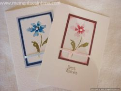 Simple Pink and Blue Flower Cards