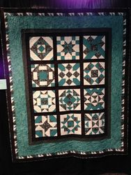 "Michele Smith ""Teal Magic Sampler"" (Quilted by Mo Starkey)"