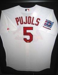 Albert Pujols 2006 Upper Deck Signed World Series Jersey