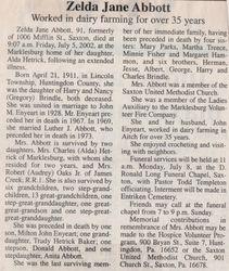 Abbott, Zelda Jane Brindle 2002
