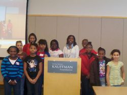 Youth with Kauffman Scholars Presentor