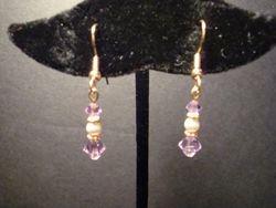 General Cancer Awareness Earrings (Gold) (Item #3129)  $10.00