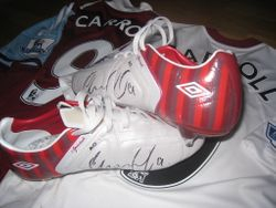 Andy Carroll´s worn and signed boots