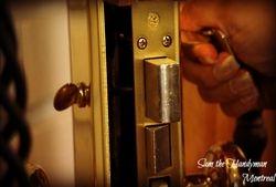 Door lock installtion