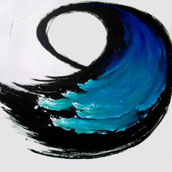Nature's ever moving textured waves coupled with the Enso brushstroke.