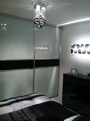 Soft white glass doors