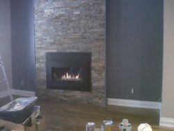 Wall unit fireplace
